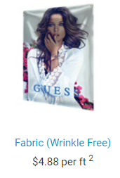 wrinkle-free fabric banner